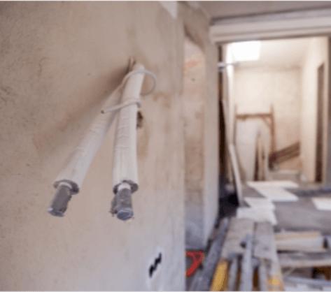Åbning af hul i bærende vægge